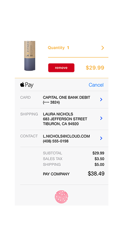 Illustration of mobile app payments
