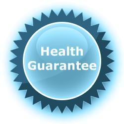 health guarantee seal