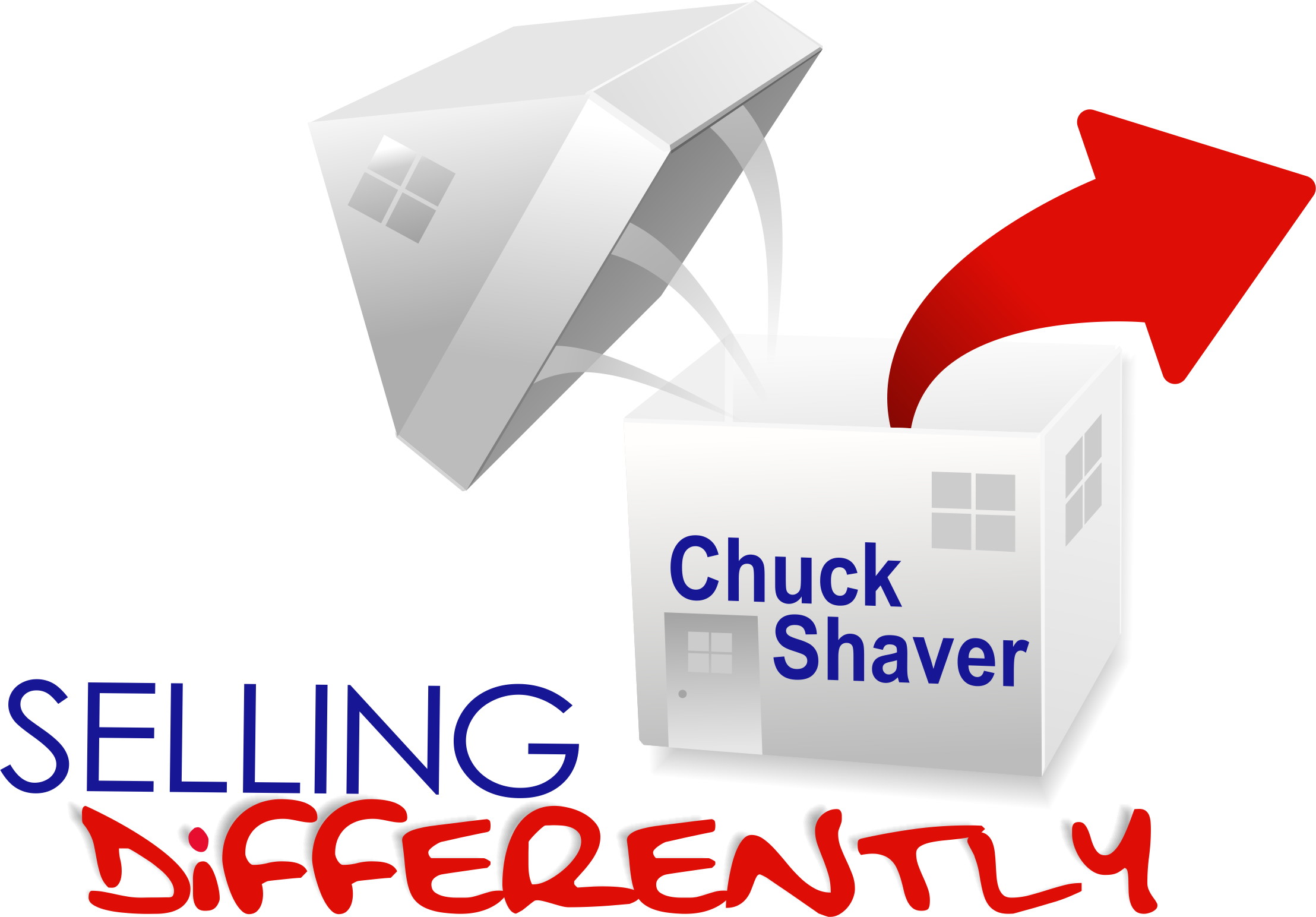 Chuck Shaver Real Estate Agent Selling Differently Logo