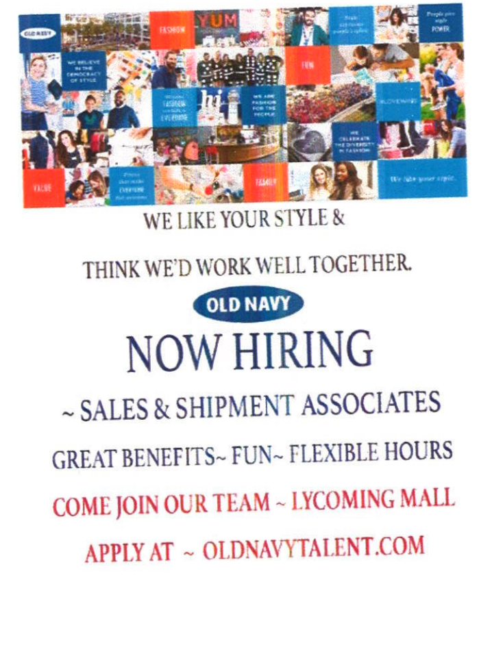 old navy employment collage and information