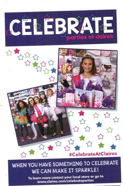 girls celebrating birthday parties at claire's and information for hosting