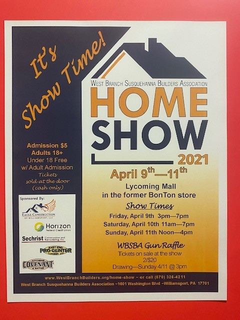 information for the home show at lycoming mall