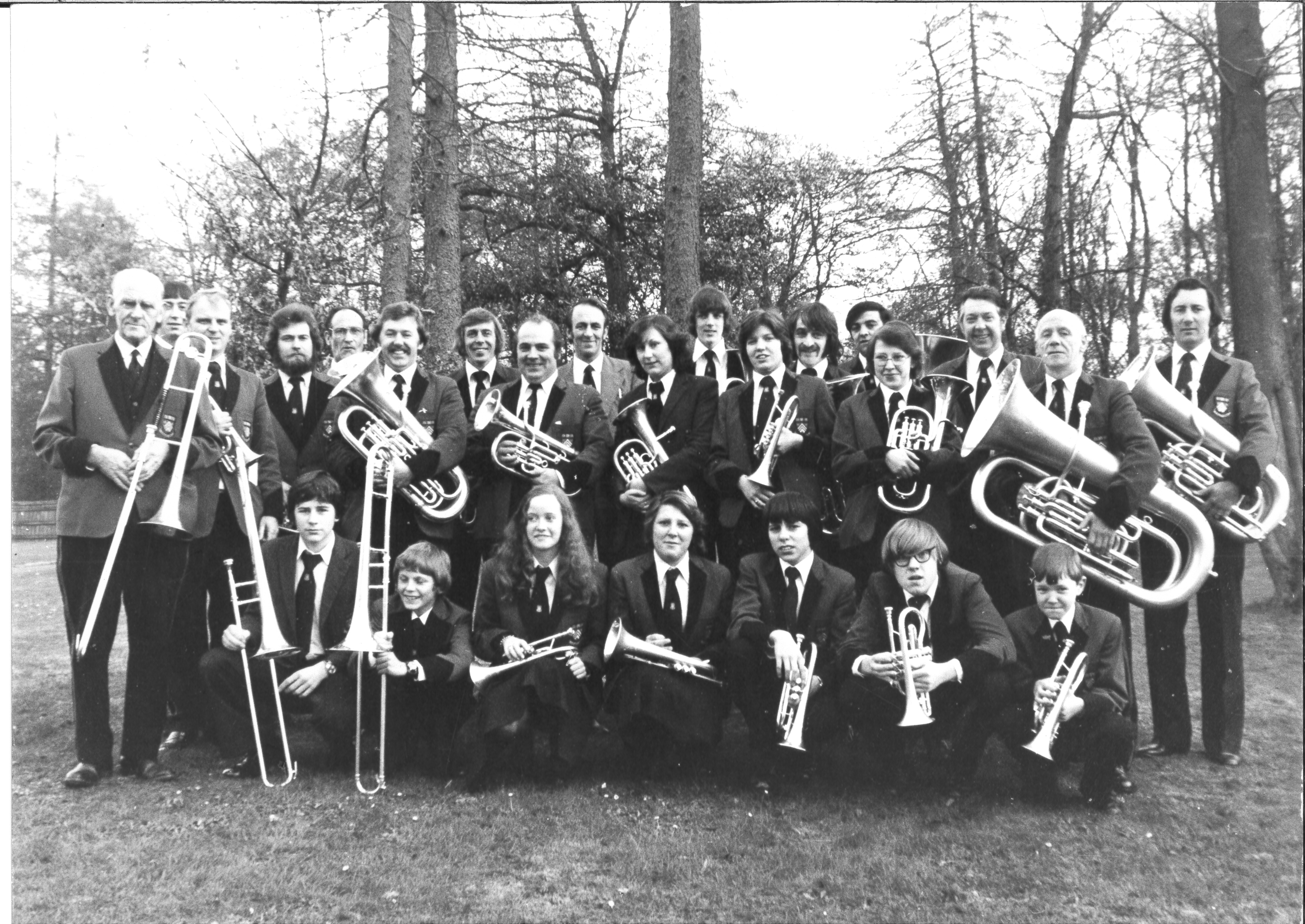 Coleford Town Band early 1970s