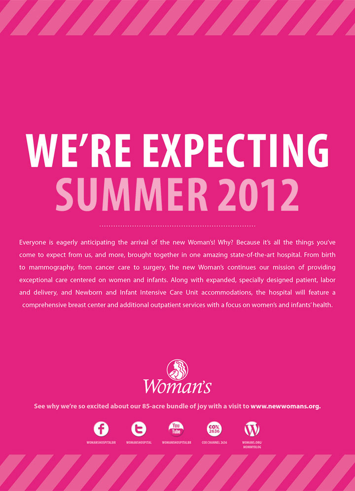 Woman's Hospital | Pink Print: We're Expecting