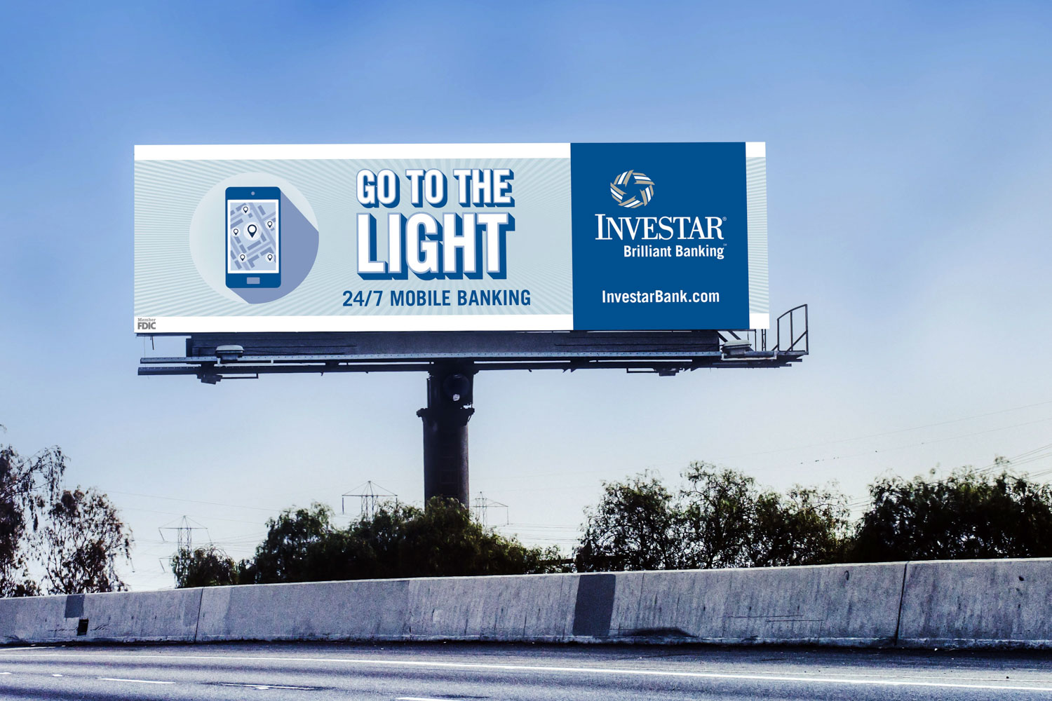 Investar | 2016 Billboard: Go to the Light Mockup