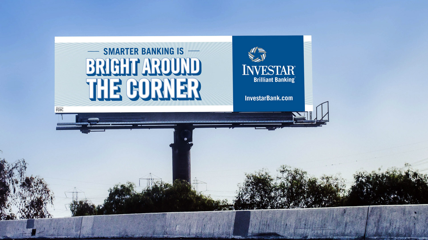 Investar | 2016 Billboard: Bright Around the Corner Mockup