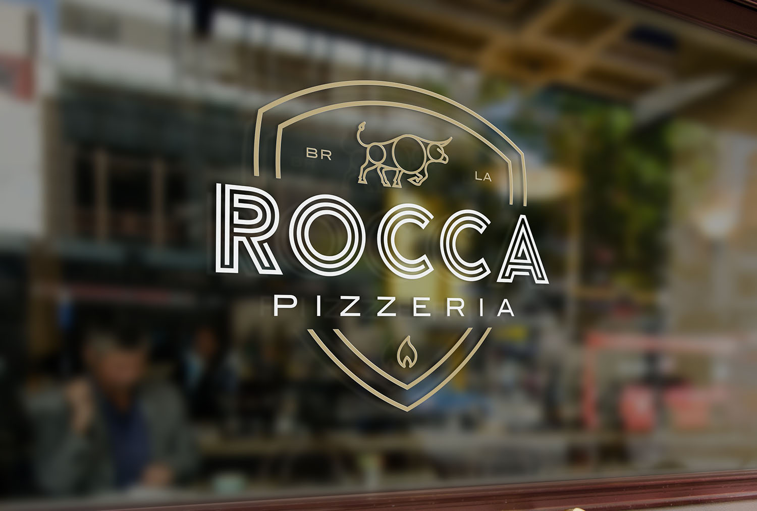 Rocca Pizzeria | Window Decal
