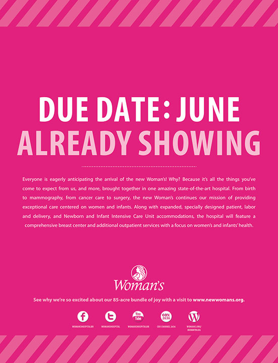 Woman's Hospital | Pink Print: Due Date
