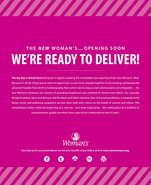 Woman's Hospital | Pink Print: We're ready to deliver
