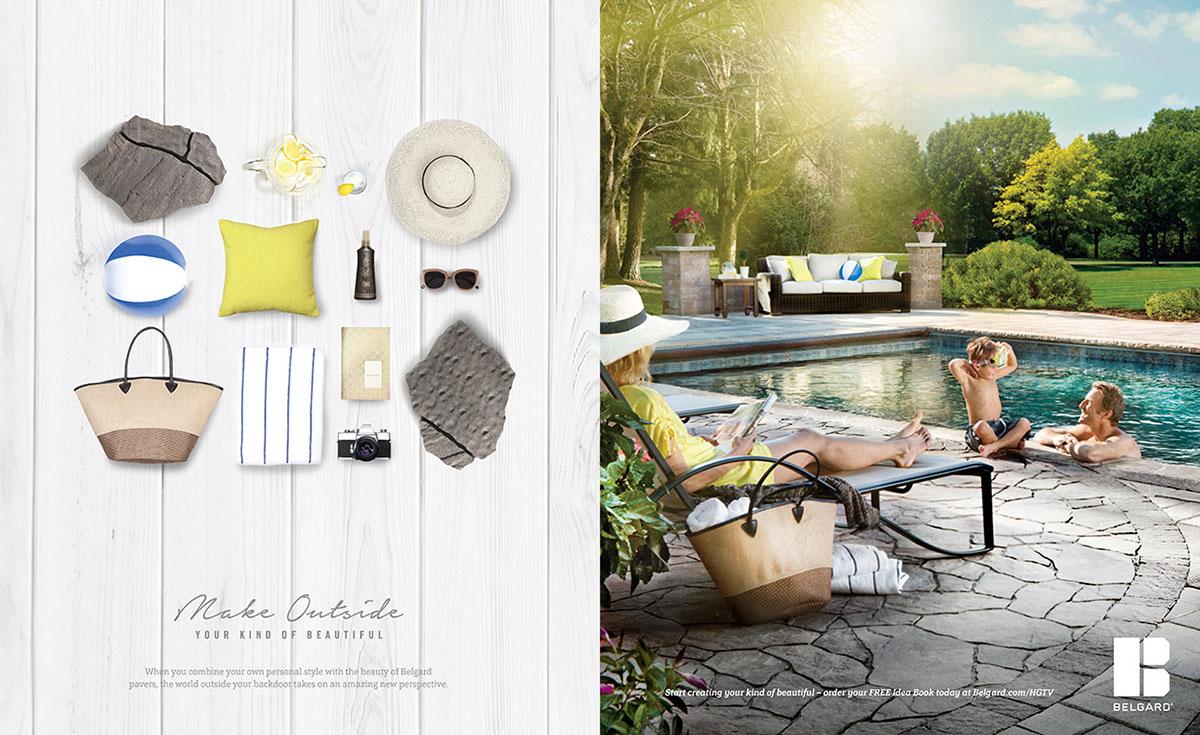 Belgard | 2016 Knolling  — Sit Back Print Ad