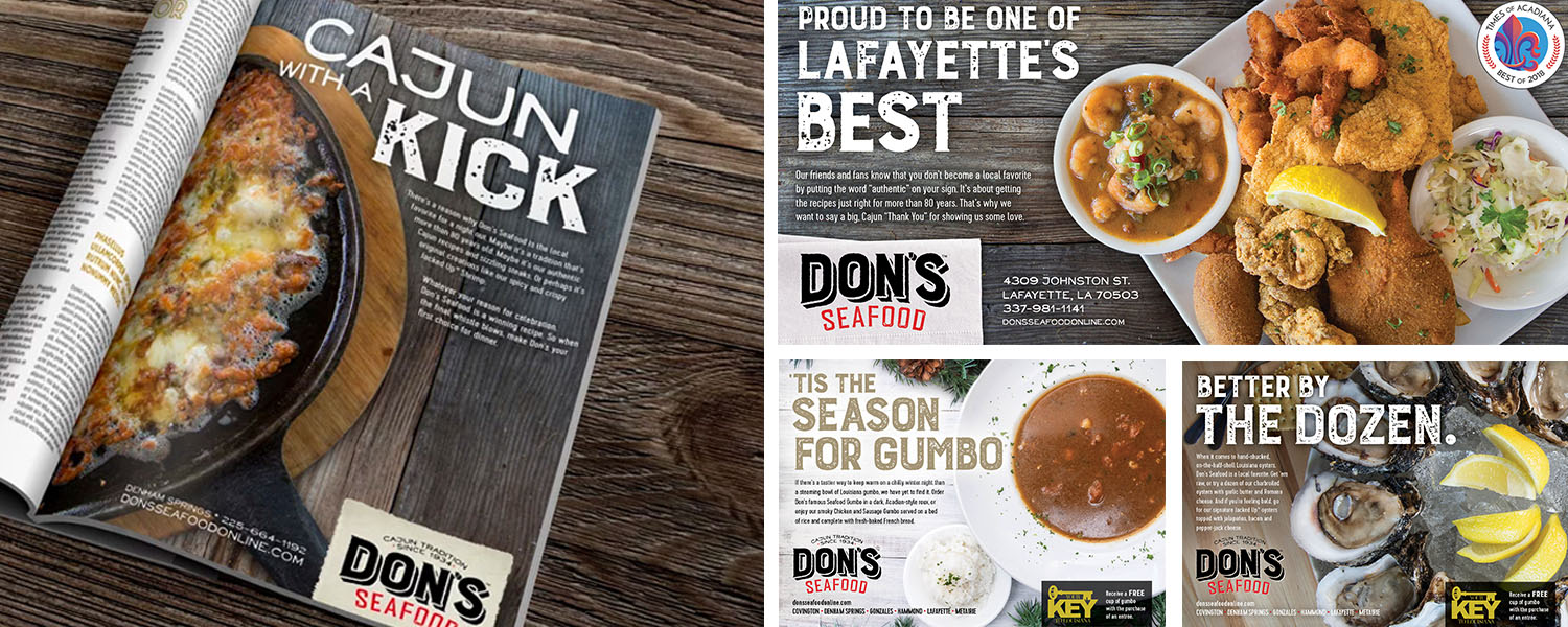 Don's Seafood | Print: Cajun with a Kick