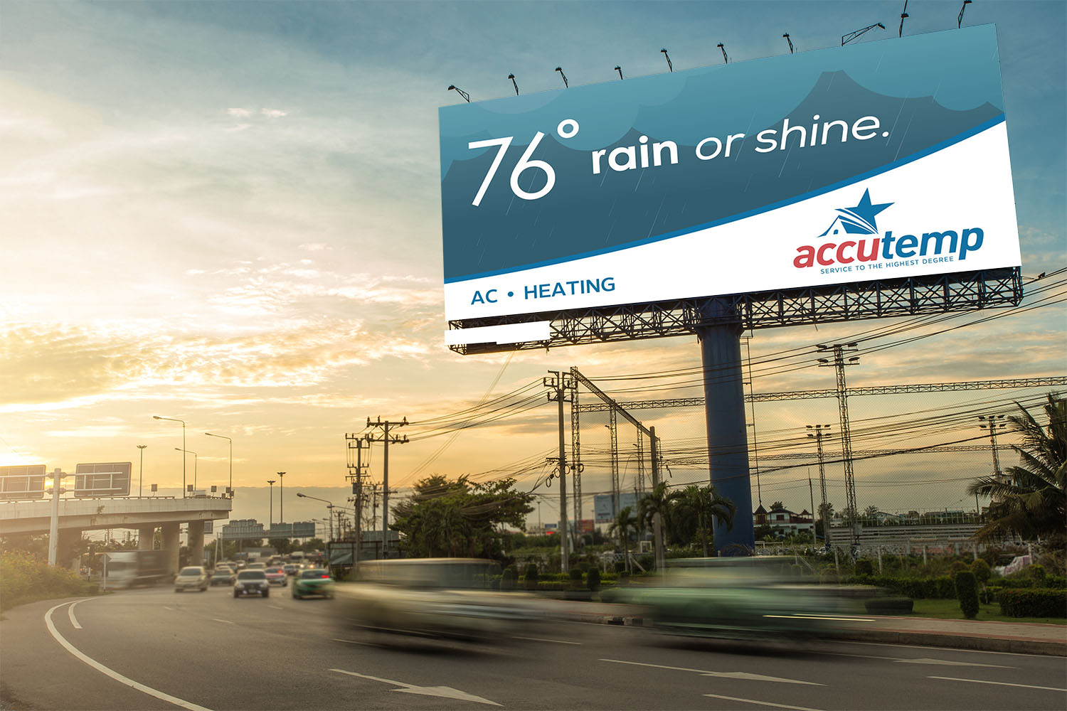 AccuTemp | Billboard: 76 and Rainy