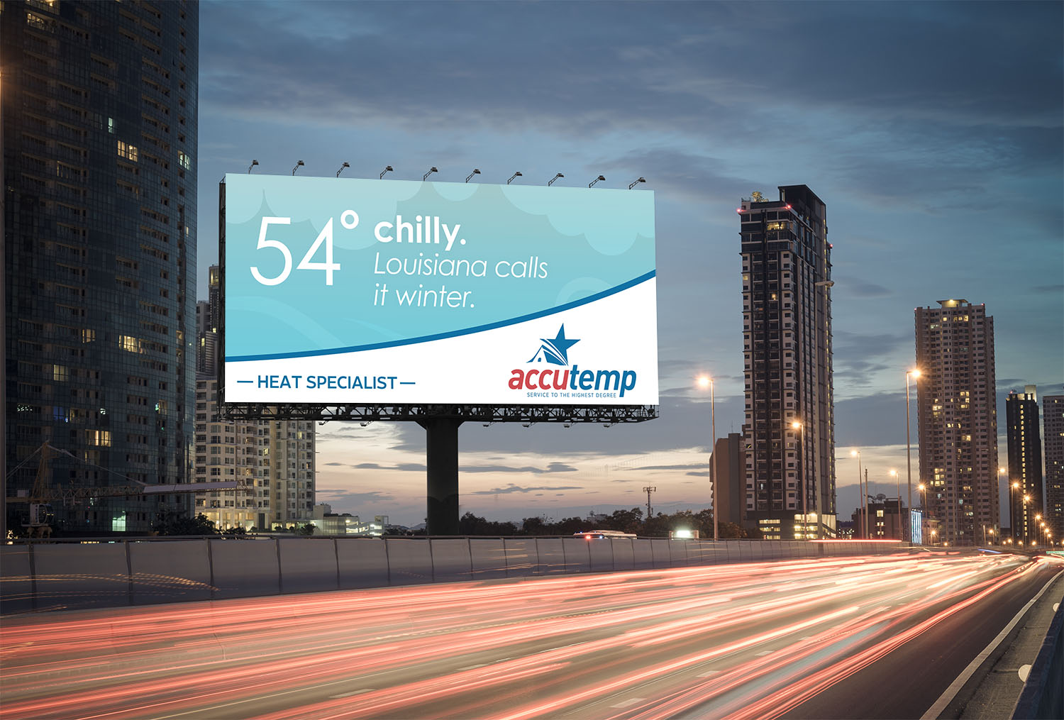 AccuTemp | Billboard: 54 and Chilly