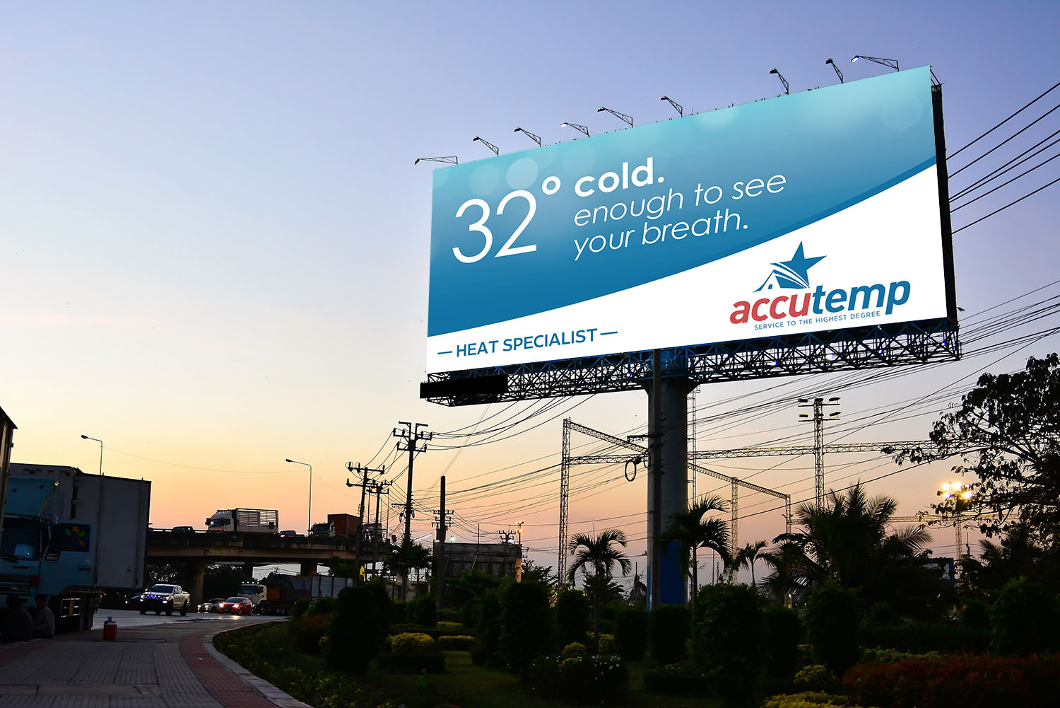 AccuTemp | Billboard: 32 and Cold