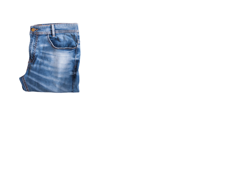 A pair of jeans being annotated with a bounding box