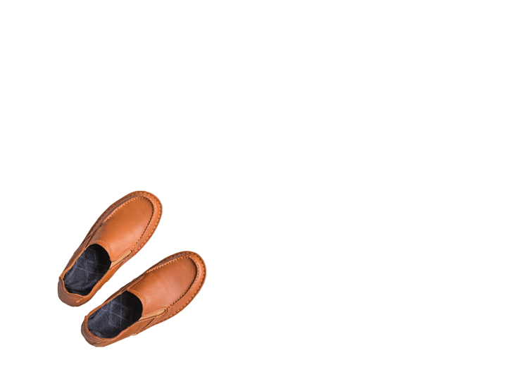 A pair of shoes being segmented with a segmentation mask