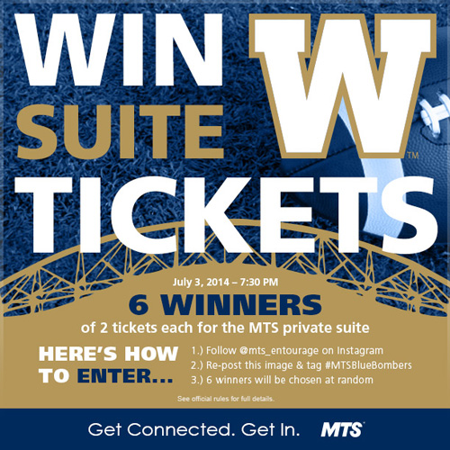 MTS Winnipeg Blue Bombers Contest