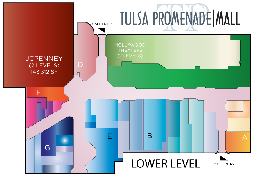 Tulsa Promenade Mall Map on