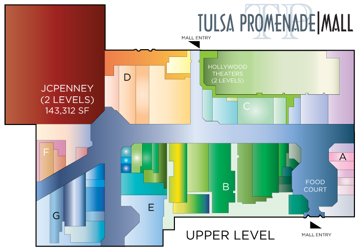 Tulsa Promenade mall map