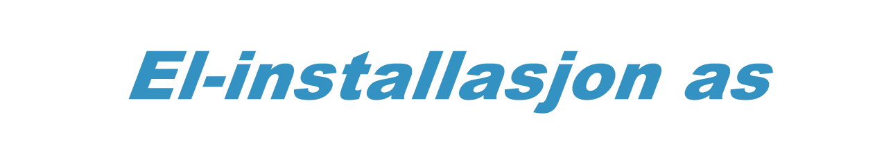 El-installasjon as logo