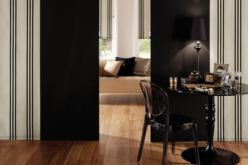 Black and white Panel Blinds