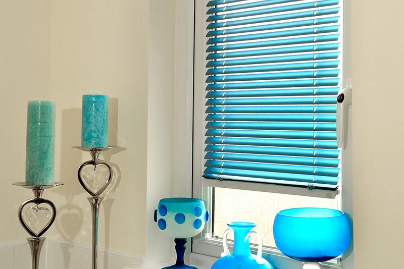 Aluminium Venetian Blinds Blue
