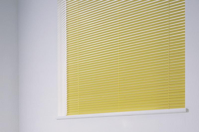 Aluminium Venetian Blinds Yellow