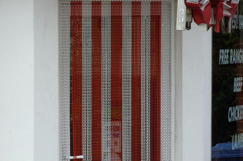 (MCD) Chain Link Door Red & Silver