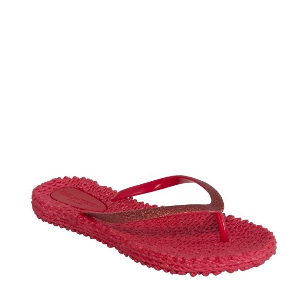 Cheerful slippers, deep red