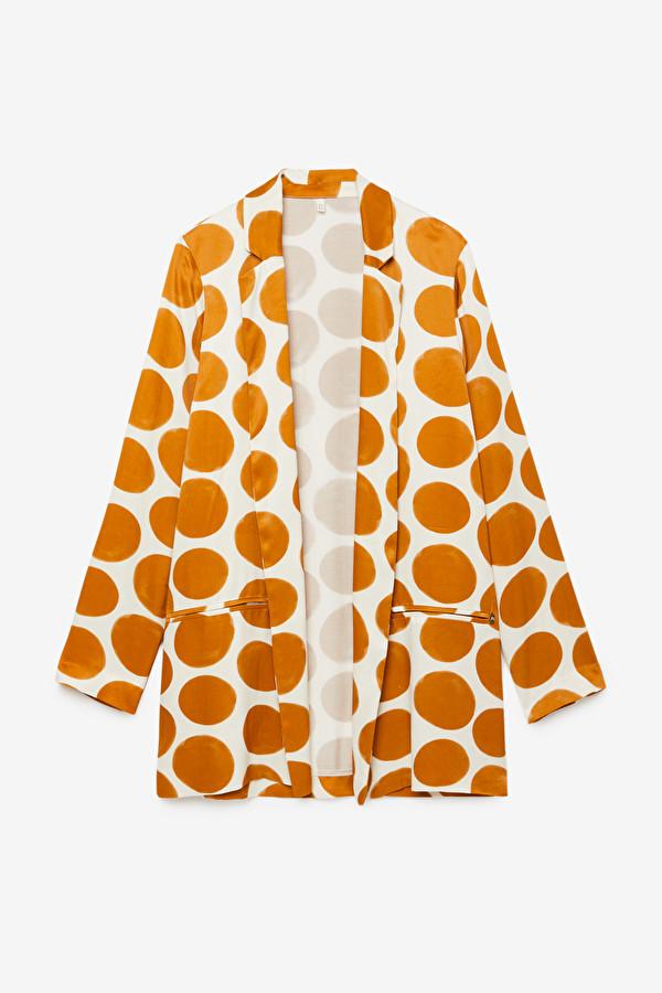 Oversized viscose blazer