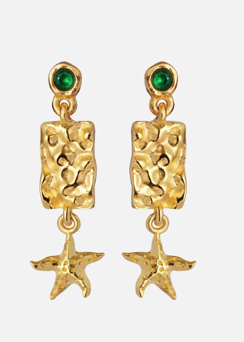 Starfish earrings, gull