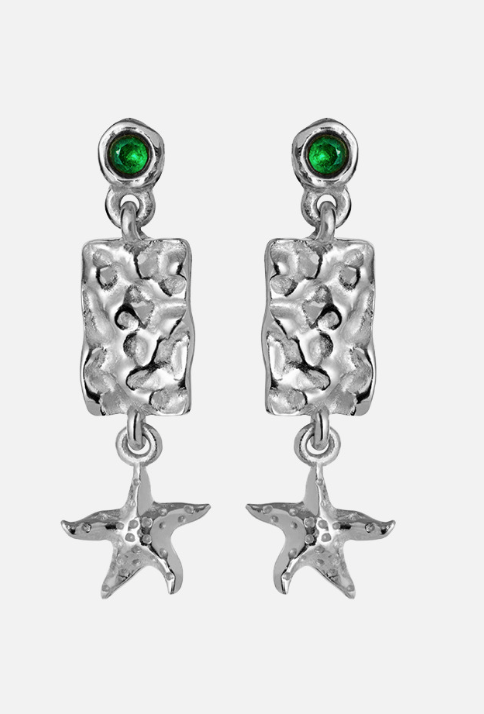 Starfish earrings, sølv