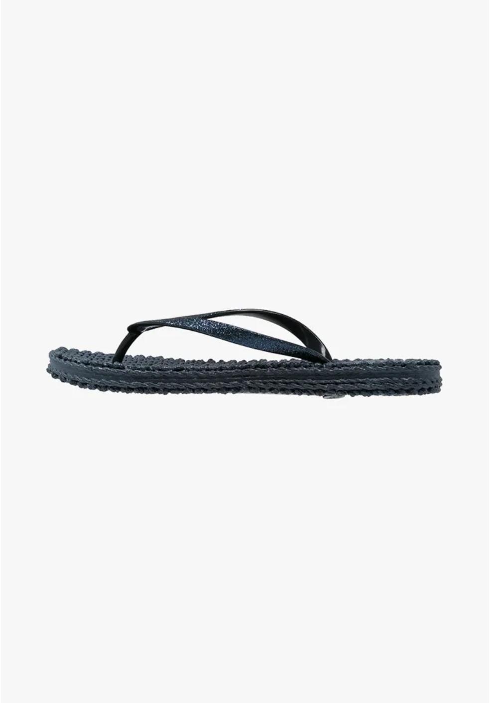 Cheerful slippers, indigo