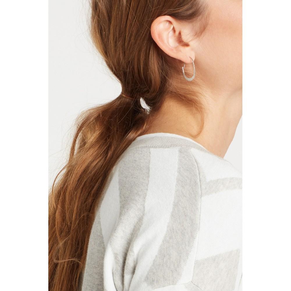 Hoop earrings, silver
