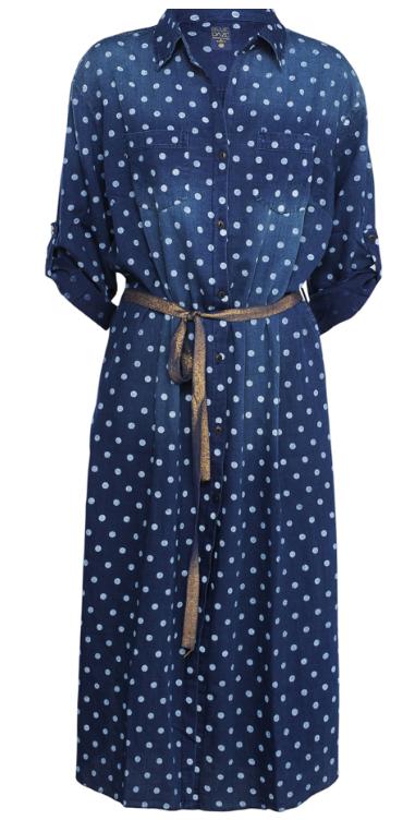 Skjorte Kjole med prikker