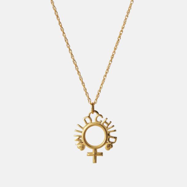 Wild Child necklace, gold