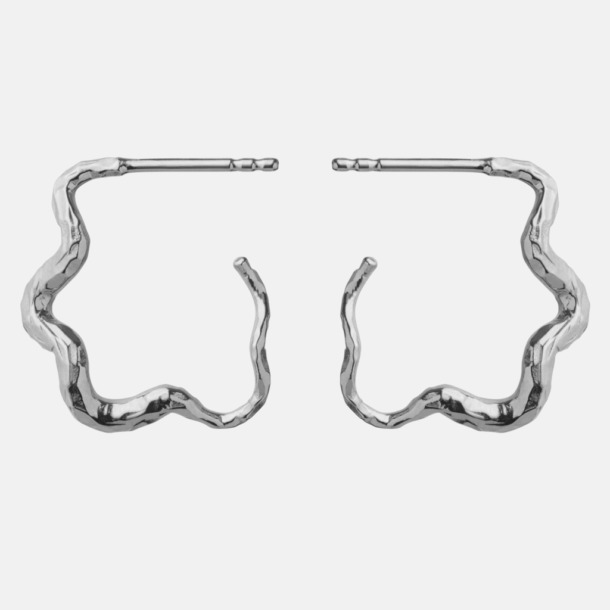 Carin earrings, silver