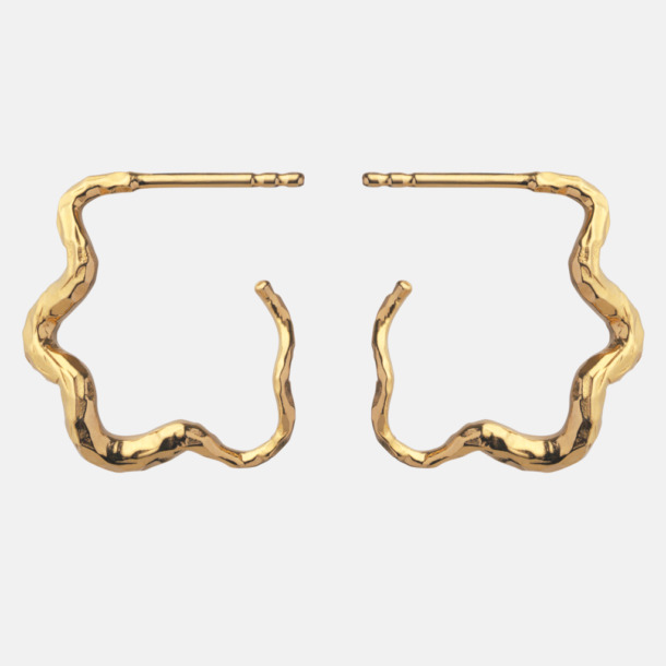 Carin earrings, gold