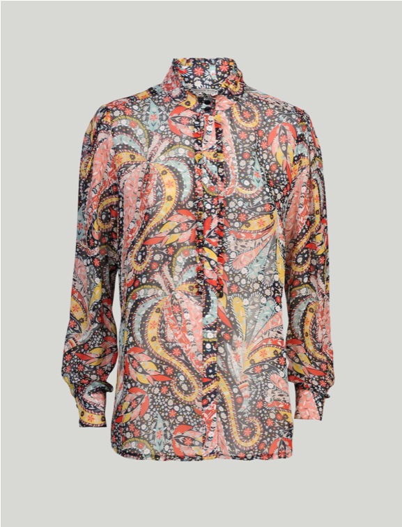 Blouse Flower Paisley Multicolored