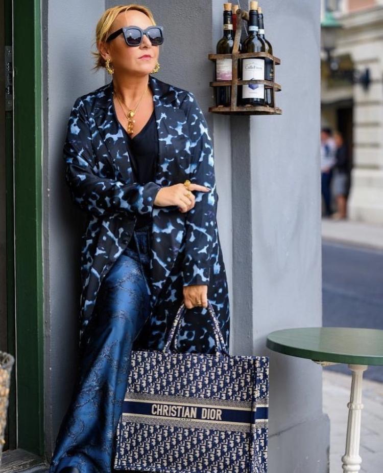 Blazer Dress Blue Stone