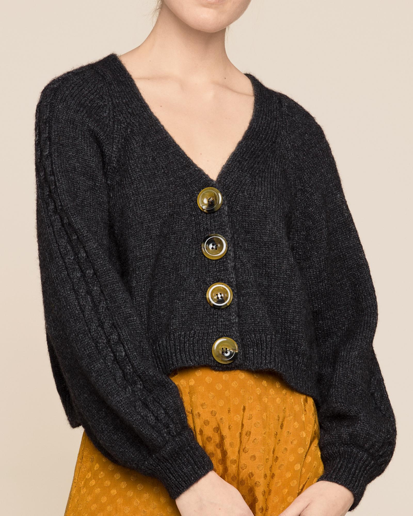 Soft Alpaca Bell Sleeve Cardigan