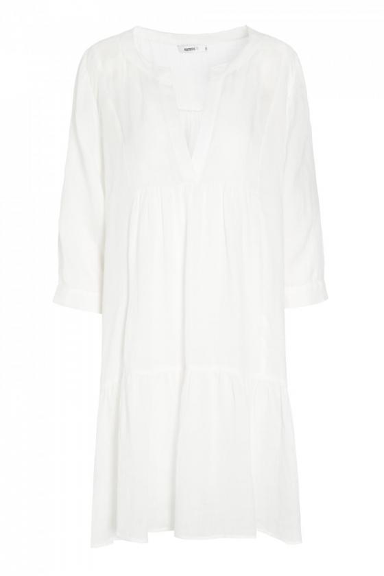 Alba Ramie Dress White