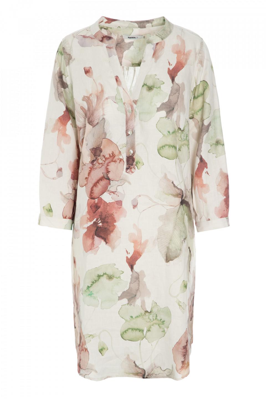 The Artist Aria Linen Dress Green Spring