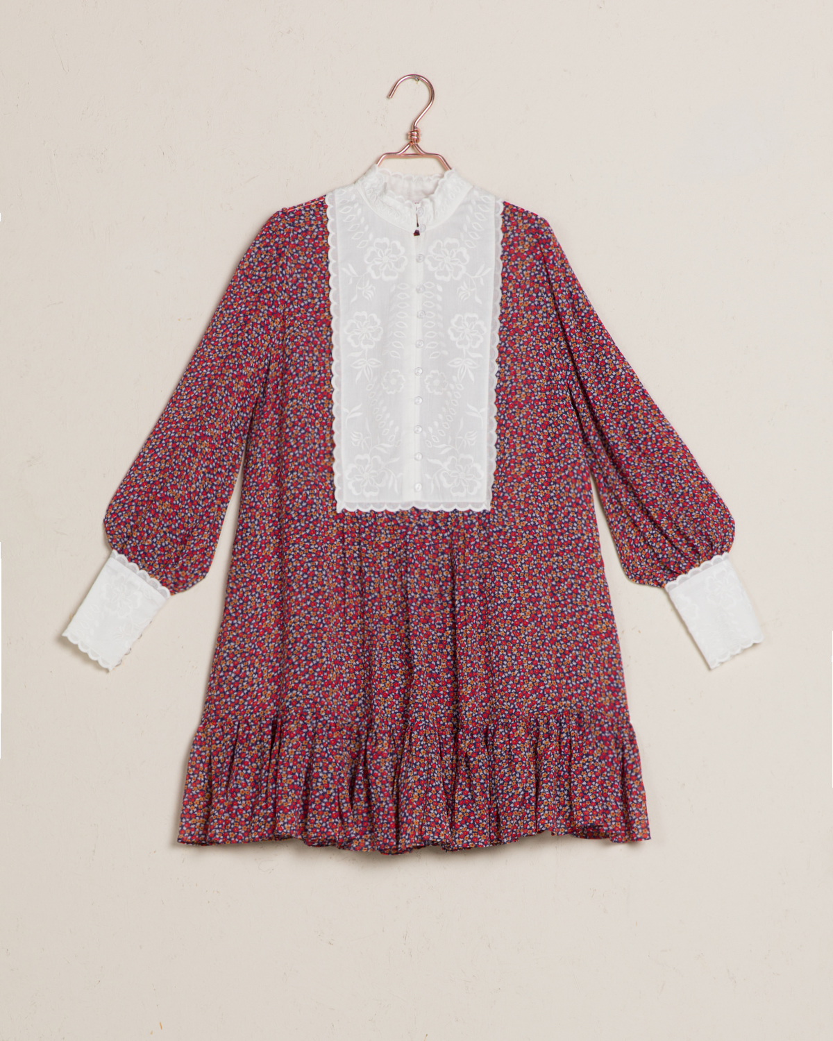 Semi Broderie Anglaise Shift Dress