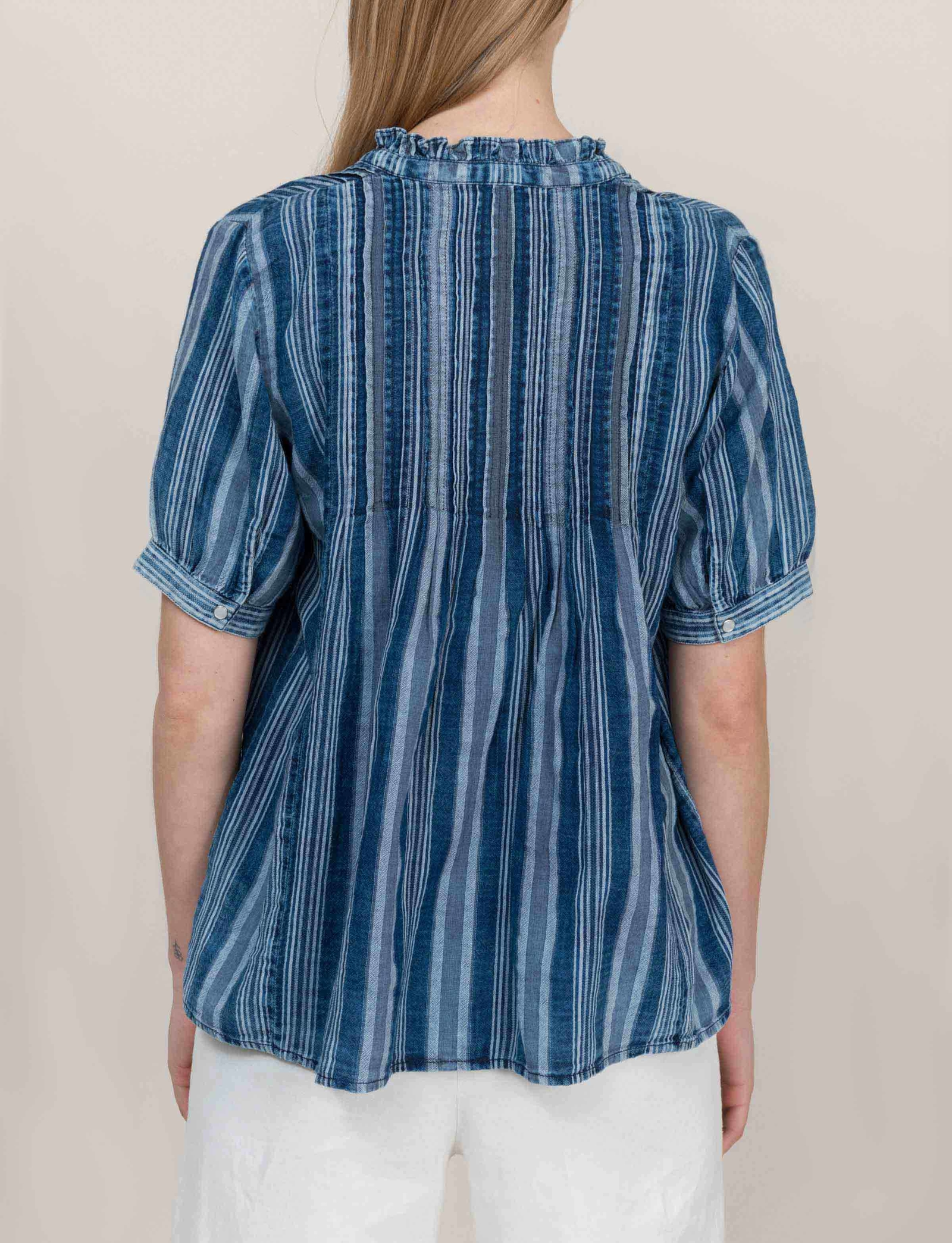Stripete Denim Bluse
