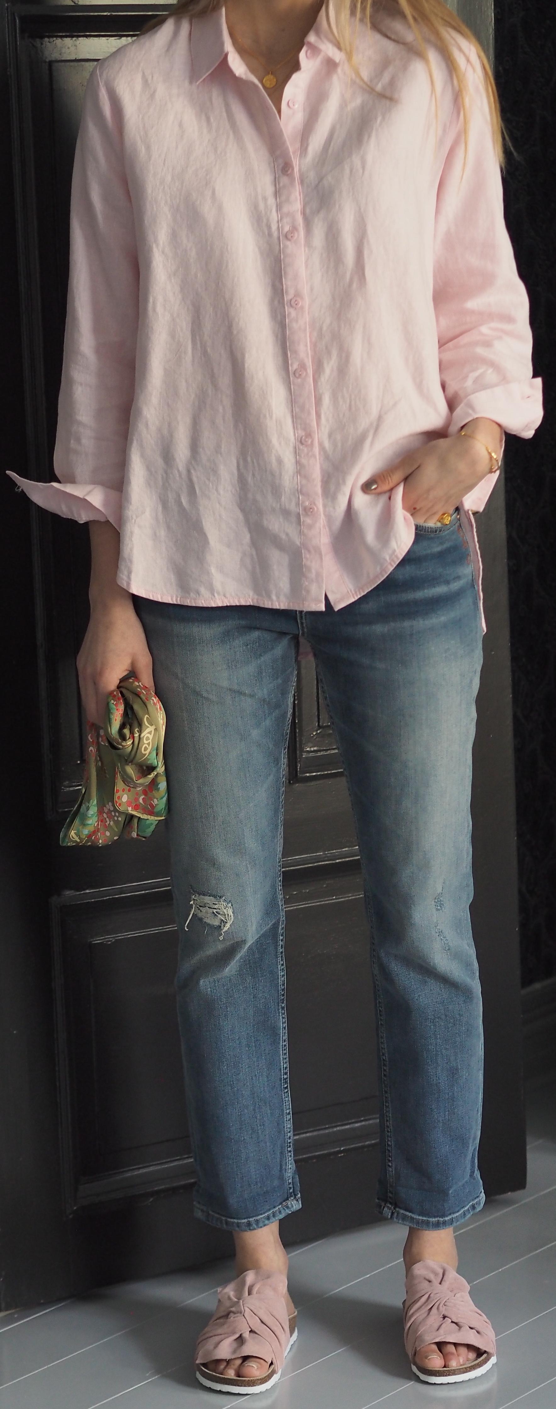 Drew Linen Pink