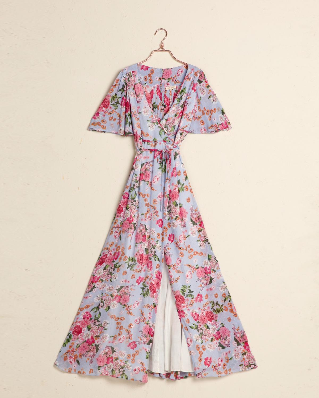 Delicate Semi Wrap Gown