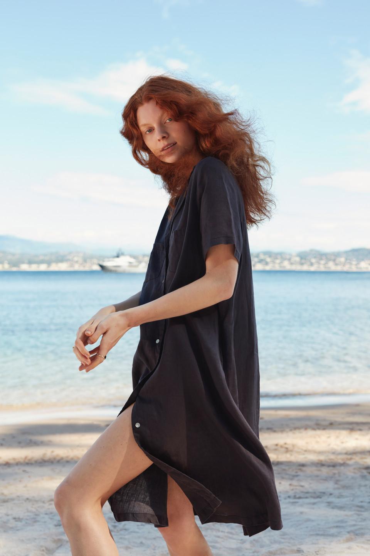 Amalfi Button linen Dress