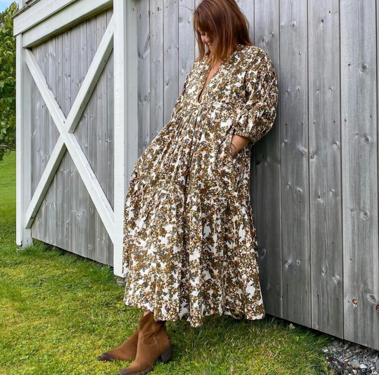 Structured cotton dress