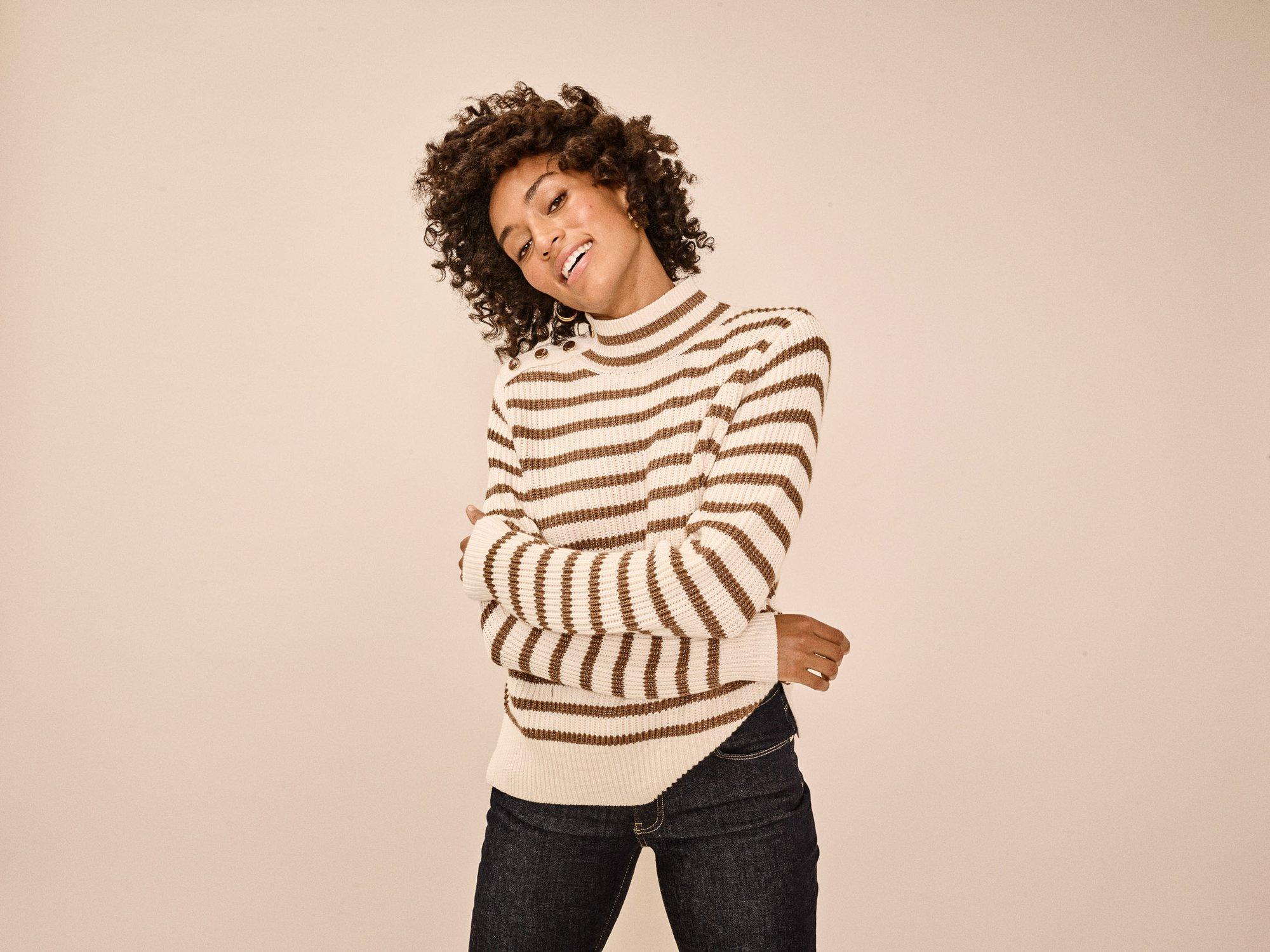 Lin stripe knit